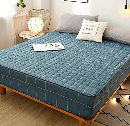 XLMHZP Sábana Ajustable Acolchada Agradable para la Piel Funda Protectora de colchón de Cama Suave y Transpirable Ropa de Cama cómoda Ropa de Cama-K_120x200cm + 30cm