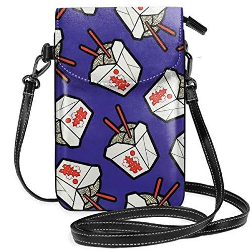 Take Out Noodles Box Muster leichte kleine Crossbody Taschen Handy Geldbörse Geldbörse für Frauen Mädchen mit praktischem Tragen