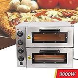 Iglobalbuy Four à Pizza, 3000W Professionnel Double Chambres 3 Contrôles de Température...
