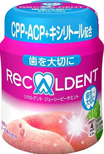 リカルデント ジューシーピーチミントガム ボトル 140g【6個セット】