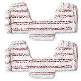 Polti PAEU0286 Kit 2 paños universales con paragolpes compatible con la aspiradora serie UNICO, Rojo y blanco