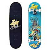 """Idea Skateboards 31''X 8"""" Pro Complete Skateboard 7 Layer Canadian Maple Skateboard Deck for Extreme Sports and Outdoors"""