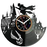 HARRY POTTER Reloj De Pared Vintage Accesorios De Decoración del Hogar Diseño Moderno Reloj De Vinilo Colgante Reloj De Pared Reloj Único 12' Idea de Regalo Creativo vinilo pared Reloj HARRY POTTER