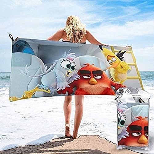 Proxiceen Toalla de playa Angry Birds para el hogar, deportes al aire libre, de microfibra, suave, de secado rápido, para mujeres, niños, hombres, niñas, regalos (A2,80 x 160 cm)
