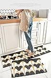 HLXX Alfombrillas de Cocina Modernas Alfombras de sofá para el hogar Alfombras de Piso para la Entrada de la Sala de Estar Felpudo Lavable Antideslizante A5 40x60cm + 40x120cm