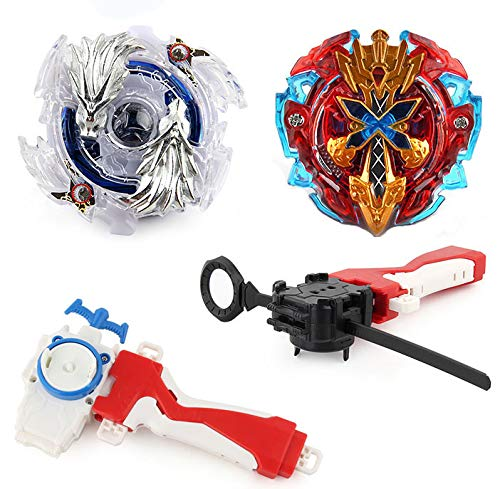 Elfnico Bey Battle Burst 2 in 1 Metal Fusion Battling Tops with 4D Launcher Grip Battle Set