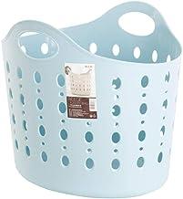 Citylife L-7083 BLU Round Laundry Basket, 40*32.4*35.3cm, Celestial Blue, 38.5L