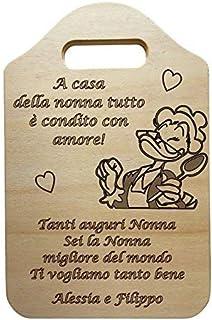Tagliere decorativo in LEGNO personalizzabile IDEA REGALO originale per compleanno NONNA regalo personalizzato FESTA DELLA...