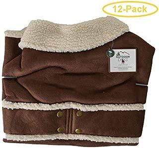 Fashion Pet Shearling Dog Blanket/Coat - Brown X-Large (24