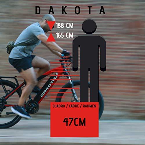 URBANBIKER Vélo électrique VTT Dakota, Batterie Lithium Samsung 48 V 17.5 Ah (840 Wh) Moteur 350W. 27,5 Pouces, Freins hydrauliques Shimano
