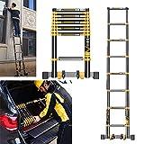 MOTOHEBAG Escalera telescópica, Escalera Plegable, contra la Pared Escalera Recta (3.5m, 4.7m, 5.9m Opcional) (Tamaño: Escalera Recta de 3.5m),Straightladder4.7m