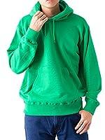 ティーシャツドットエスティー パーカー 無地 裏パイル プルオーバー 10.0oz メンズ ケリーグリーン 4XL