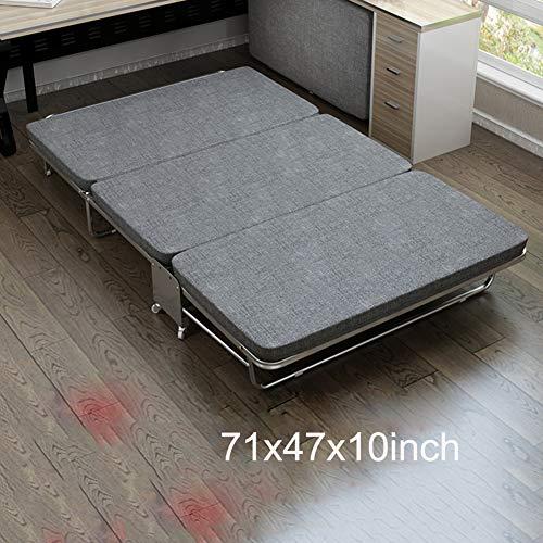 GLLSZ Einstellbar Klappbar Bett Leicht Einzelnen Schlaf Bett Tragbar Faltbare Gästebett Für Indoor Camping Büro Nap,661lbs Max Gewicht Kapazität B Breit 120cm(47inch)
