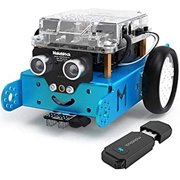 Makeblock mBot Starter Kit with Bluetooth Dongle Learning & Education Toys with Arduino/Scratch Coding Electronic Sensors Building Robots for Kids Ages 8+ Computer Science Robot kit for Classroom