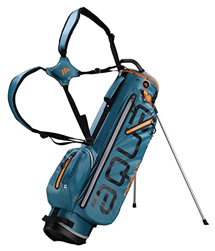 BIG MAX AQUA OCEAN Golf Standbag - Ultraleicht 100% Wasserdicht (Petrol/Black/Orange)