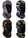 4 Pieces Balaclava Face Mask Windproof Sun Dust Protection Mask Breathable Full Face Cover for Outdoor Activities (Camouflage)