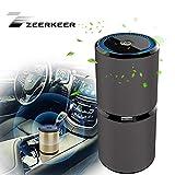 Mini Generatore Portatile di ozono Ricaricabile USB per la Disinfezione Dell'aria, Filtro dell'aria, Cattura allergie, Polvere, Fumo, Forfora, Odore, PM2.5, Purificatore D'aria Per Auto(Nero)