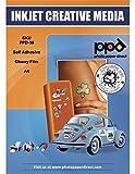 PPD DIN A4 Inkjet Vinylfolie Aufkleberfolie Stickerfolie Für Tintenstrahldrucker Weiß Glänzend Selbstklebend - Super Premium Mikroporöse Beschichtung für Vollfarbige Fotografische...