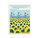 Cartel impreso del Tour de Francia Ciclismo Edimburgo Viajes vintage Ciudades Paisaje Carteles Lienzo en HD Pintura Arte de la pared Imagen 50x70 cm x1 Sin marco
