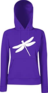 Unbekannt Lady Kapuzensweatshirt Tiermotiv Libelle, Dragonfly, Insekt