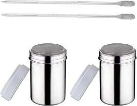 Bestonzon 4pcs Spice Shaker Stainless Steel Spice Jars Herb Container Bottles Shaker Barbecue Condiment Jars Salt Pepper S...