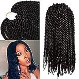 Micro Crochet Braids Kids (1 Pack)Crochet Twist Synthetic Hair Extension 10 inch Senegalese Mambo Twist (1B)