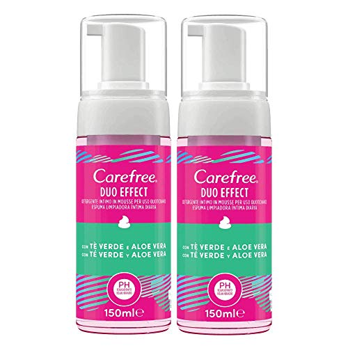 Carefree Gel Intimo Te Verde y Aloe 2 x 200 ml 470 g - Pack de 3