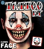 Tinsley Transfers Clown Face Tattoo Adult Accessory