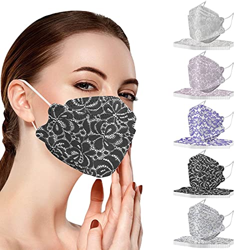 Disposable Multi Colored Face_Masks Face_Mask for Women and Men 3 Layer Adjustable Ear-Loop Adult Safety Soft Breathable Masks for Cycling Camp Daily Use