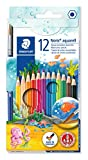 Staedtler 14410NC12 - Noris Club Aquarell-Buntstifte, 12 brillanten Farben