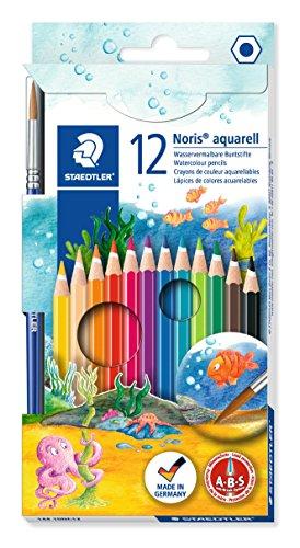 STAEDTLER 14410NC12 - Noris Club Aquarell-Buntstifte, 12 brillanten Farben