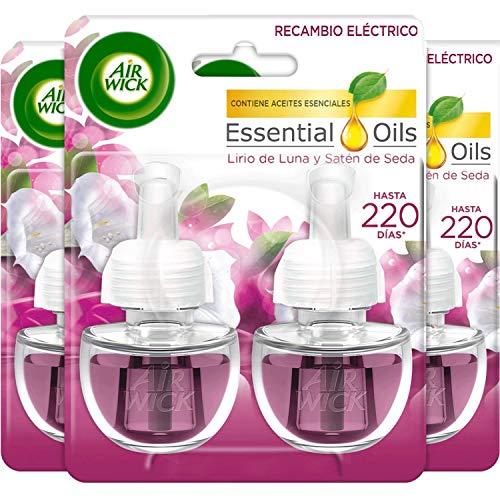 Air Wick Eléctrico - Recambios de ambientador automático eléctrico, esencia para casa con aroma a Lirio de Luna y Satén...