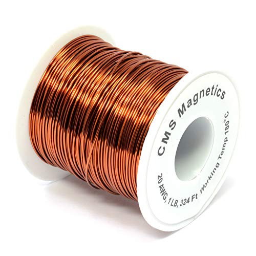 20 Gauge Magnet Wire for Science Projects | Enameled Copper Wire w/Working Temperature 356 F for School and Lab, One Pound