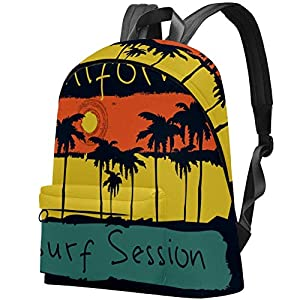 51KKZq645mL. SS300  - Surf California Santa Monica Beach Surf Bolso Adolescentes Mochila Escolar Mochilas livianas Mochila de Viaje Mochilas…