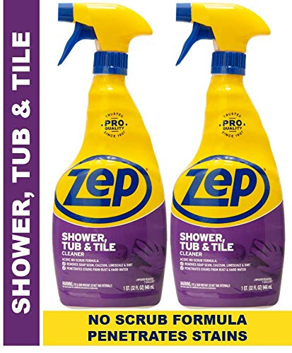 Zep Shower Tub and Tile Cleaner 32 Ounce ZUSTT32PF (Pack of 2) Breaks up Tough Buildup on Contact