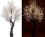Luminea LED Baum: LED-Deko-Kirschbaum, 576 beleuchtete Blüten, 200 cm, für innen & außen (Kirschblütenbaum)