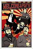 Poster Welcome to the Party Kommunist Leaders Stalin Marx