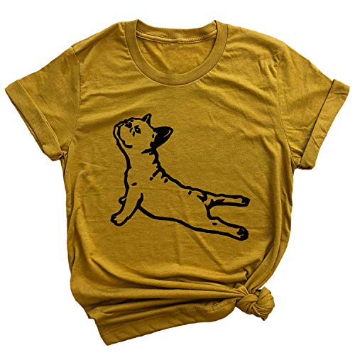 Spunky Pineapple DOGA Frenchie Yoga Pose Funny French Bull Dog Premium T-Shirt Mustard