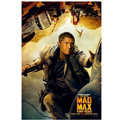 Wxueh Mad Max Fury Road (2015) Película - Tom Hardy Charlize Theron Arte Impreso Cuadros De Pintura Para Decoración Del Hogar -50X75Cmx1Pcs-Sin Marco