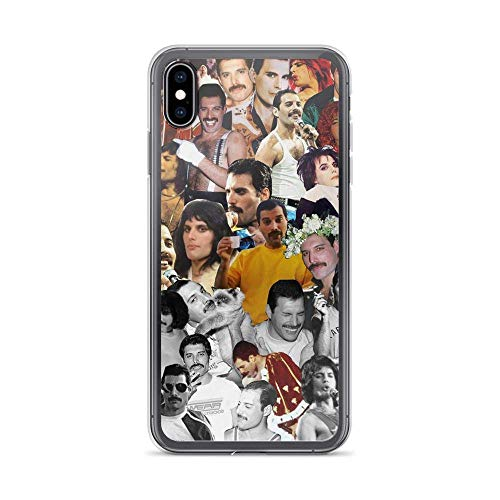 Freddie Mercury Collection Queen Rock Music Compatible con iPhone 12/12Pro MAX 12 Mini 11 Pro MAX XR XS/XsMax SE 2020 7 8 6/6s Plus Samsung Series Funda Protectora
