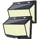 DOOK Luz Solar Exterior 468 LED, 2 Pack 3 Modos 270...