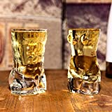 TQJ Botella de Whisky con Vaso Sexy Lady Hombres Arte Desnudo Whisky Glasses Wine, Cheers Creativos KTV Bar Whisky Ice Beber Gafas para Decoraciones De Barras - 400ml Botella de Whisky Regalo