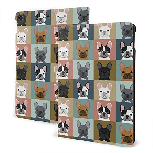 Cute French Bulldog Case for iPad 8th Generation Case Slim Hard Shell Protective Smart Cover for iPad 10.2 Inch