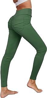 MOOSLOVER Women's High Waist Workout Leggings Butt Lifting Yoga Pants with Pockets