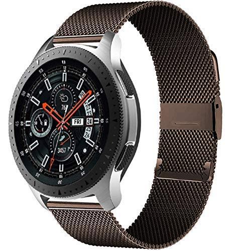 KTZAJO 2021 La última pulsera milanesa GT 2-2e-Pro de 20 mm/2 mm, compatible con Galaxy Watch 3 45 mm/46 mm/42 mm/Active 2 4 mm 40 mm Banda (color: café, tamaño: Huawei GT2-2e 42 mm)