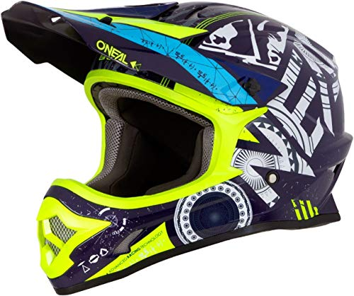 O'Neal 3Series Helium Motocross Helm MX MTB FR DH All Mountain Bike Freeride Downhill Fahrrad, 0623-H-Adult, Farbe Blau, Größe M