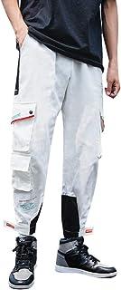 ZhixiaYS Casual Pants for Men, Men's Overalls Casual Pure Colour Comfortable Trousers