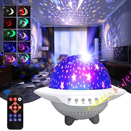 iBesi Star Projector Light Projector Skylight para el techo del dormitorio, LED Starlights Music Sky Light Starry Night Light con Bluetooth.