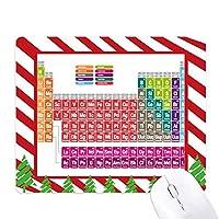かわいい簡潔な色の化学の周期表 ゴムクリスマスキャンディマウスパッド
