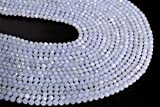 Natural Gemstone Purple Blue Blue Lace Agate Beads Faceted Round 4mm Loose Strand 15.5-inch